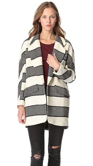 Rag & Bone Striped Egg Coat