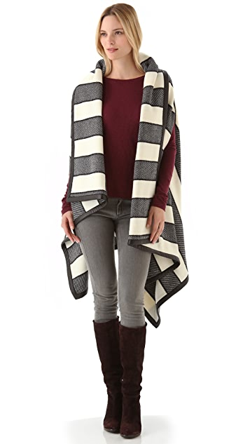Rag & Bone Bajwa Blanket Poncho