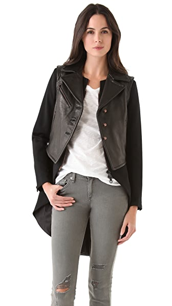Rag & Bone Biker Tailcoat with Leather Vest