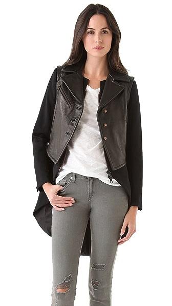 Rag & Bone Biker Tailcoat with Leather Vest