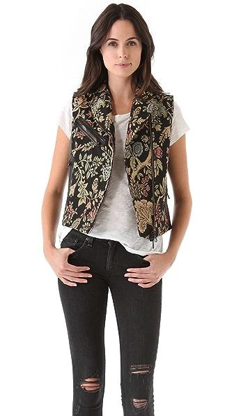 Rag & Bone Tapestry Mughal Moto Vest