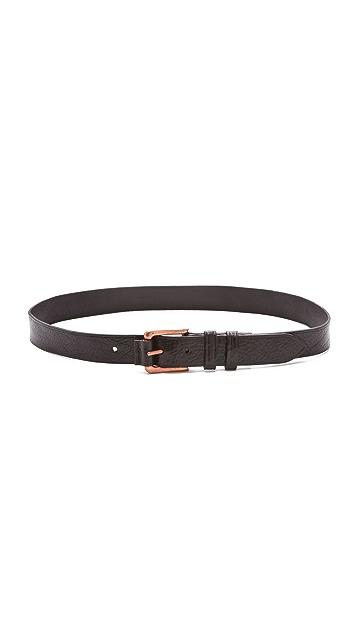 Rag & Bone Leather Roller Belt