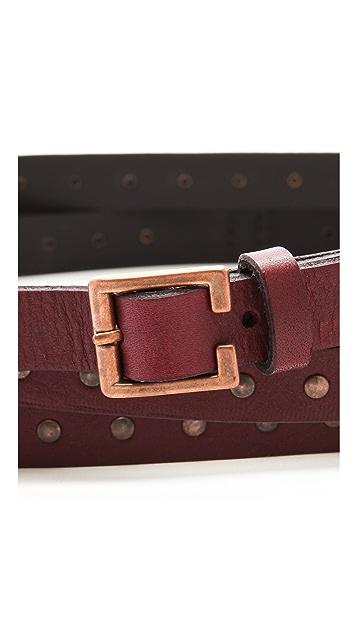 Rag & Bone Hammered Triple Wrap Belt