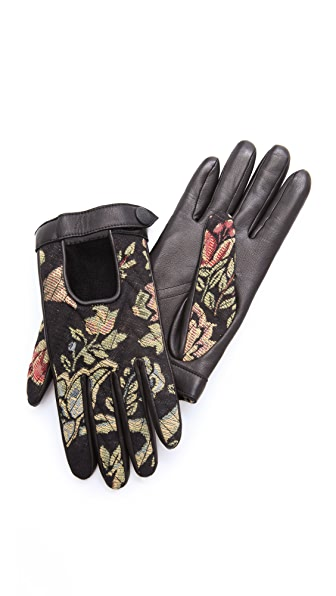 Rag & Bone Chevron Quilted Driving Gloves