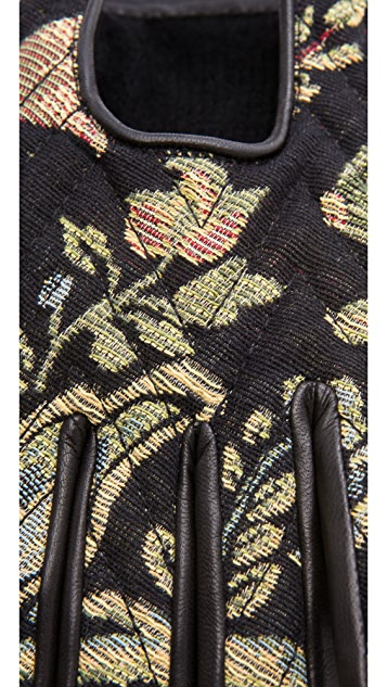 Rag & Bone Chevron Quilted Driving Gloves