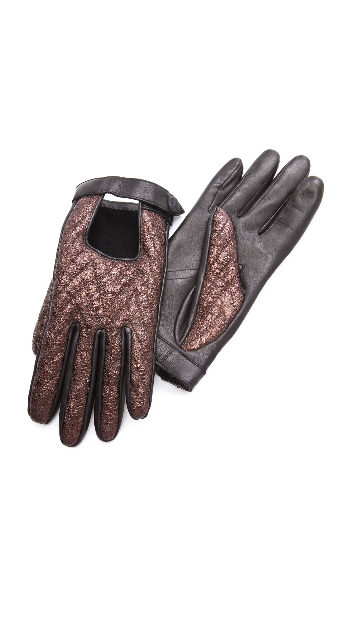 Quilted leather driving gloves - Quilted Leather Driving Gloves 48