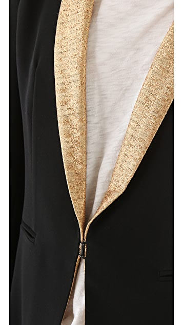 Rag & Bone Sliver Blazer with Lurex Lapel
