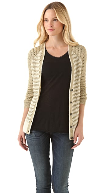 Rag & Bone Laura Metallic Striped Cardigan