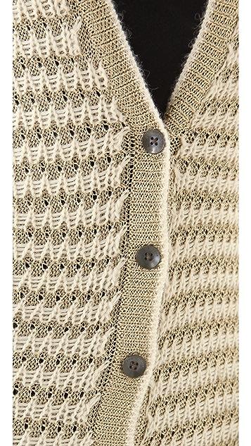 Rag & Bone Laura Metallic Striped Cardigan
