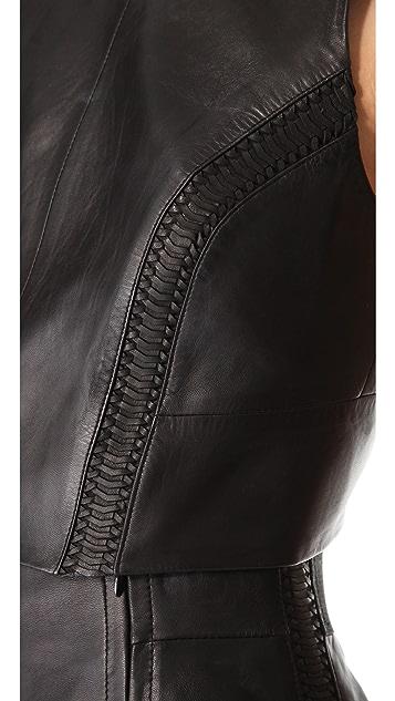 Rag & Bone Renard Leather Top