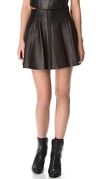 Rag & Bone Raw Edge Leather Renard Skirt