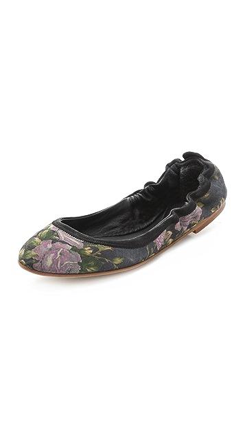 Rag & Bone Leon Floral Flats