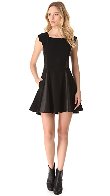Rag & Bone Lorie Combo Leather Dress