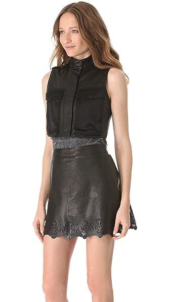 Rag & Bone Highclare Leather Vest