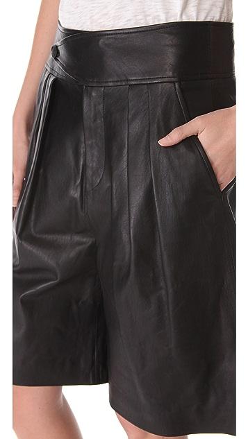 Rag & Bone Dakar Leather Shorts