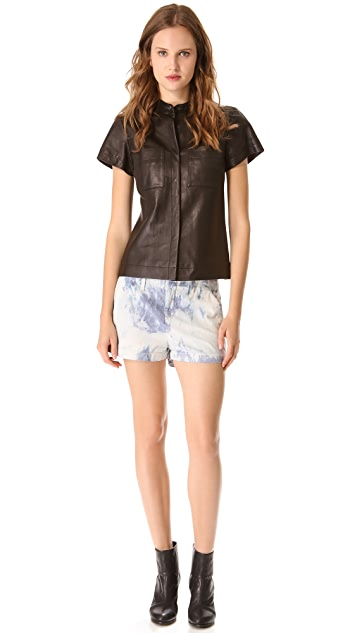 Rag & Bone Adele Leather Shirt