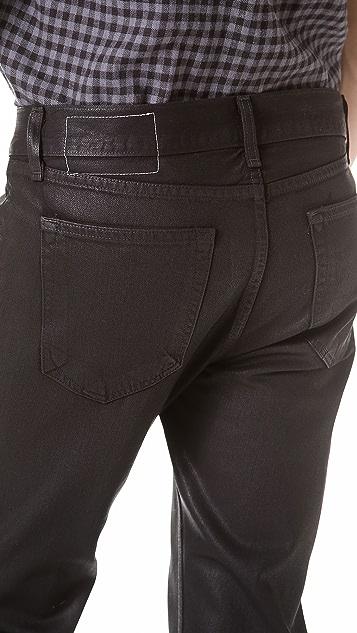 Rag & Bone RB15X Black Coated Slim Straight Jeans