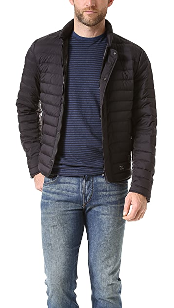 Rag & Bone Chelsea Narrow Horz Quilt Snap Front Jacket