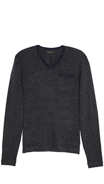 Rag & Bone Connor V Neck Sweater
