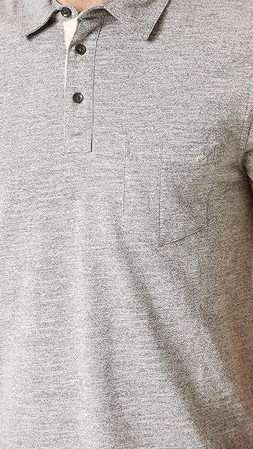 Rag & Bone Melange Pocket Polo