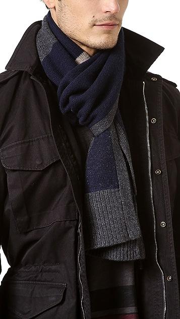 Rag & Bone Teddy Multi Stripe Knit Scarf