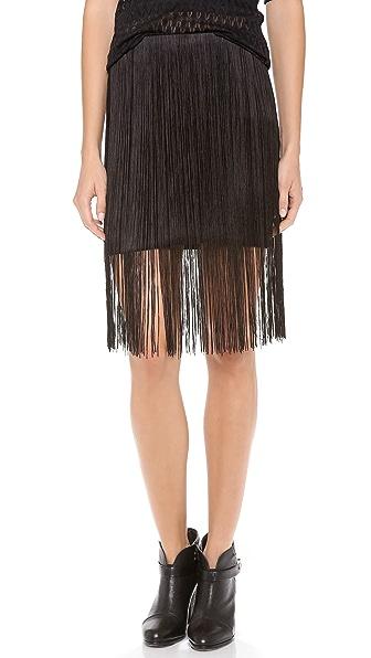 Rag & Bone Corina Fringe Skirt