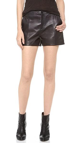 Rag & Bone Em Leather Shorts