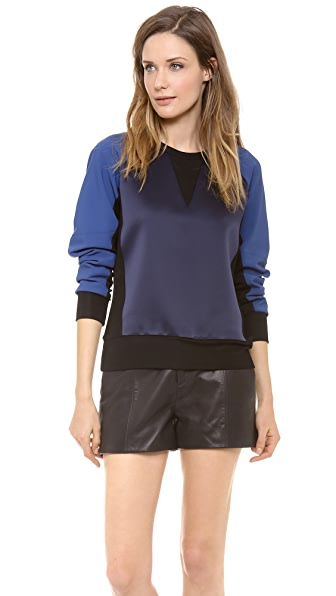 Rag & Bone Kent Colorblock Crew Neck Sweatshirt
