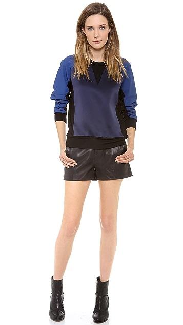 Rag & Bone Kent Colorblock Crew Neck Sweatshirt