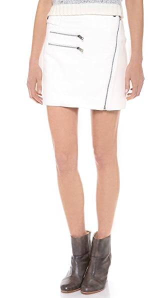 Rag & Bone Hudson Zip Leather Skirt