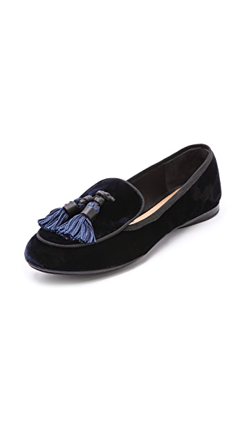 Rag & Bone Beeman Velvet Tassel Loafers