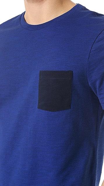 Rag & Bone Colorblock Pocket Tee
