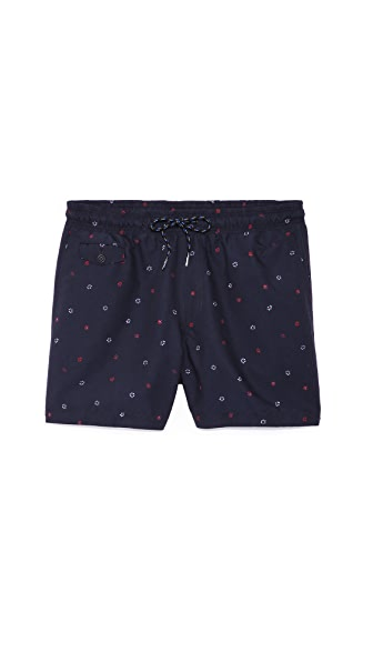 Rag & Bone Thomson Floral Dot Swim Shorts