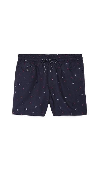 Rag & Bone Thomson Floral Dot Swim Shorts