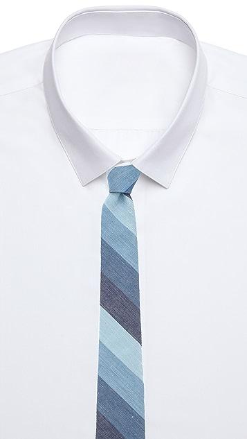 Rag & Bone Blue Stripe Tie
