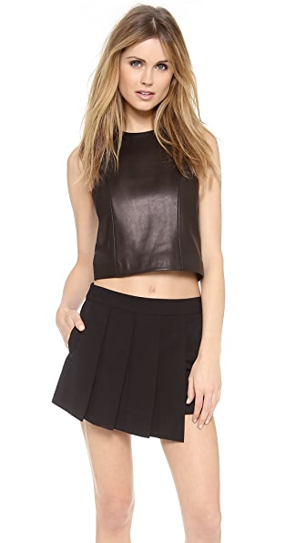 Rag & Bone Stargazer Leather Top