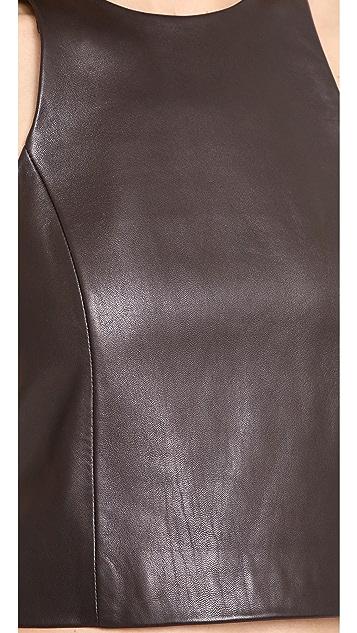 Rag & Bone Stargazer Leather Top