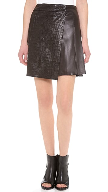 Rag & Bone Edburg Leather Skirt