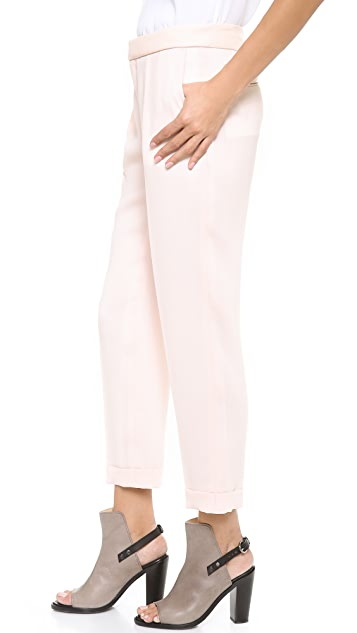 Rag & Bone Mo Pants with Leather Waistband