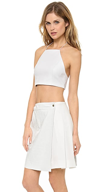 Rag & Bone Daytona Leather Crop Top