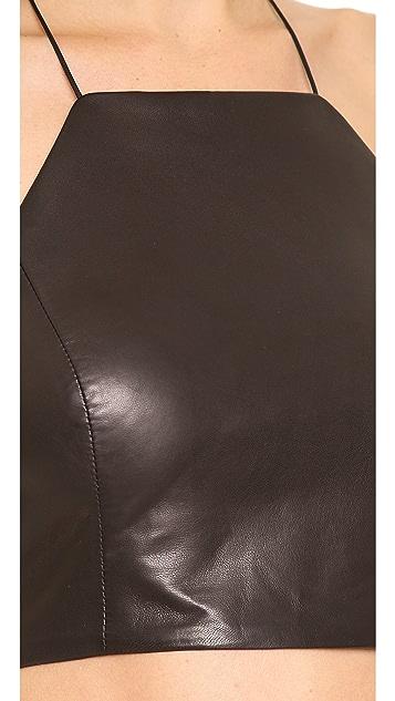 Rag & Bone Daytona Leather Crop Top