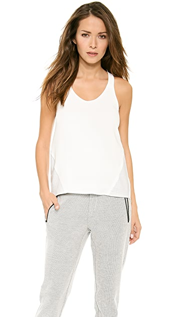 Rag & Bone Chieftan Combo Tank with Leather Insets