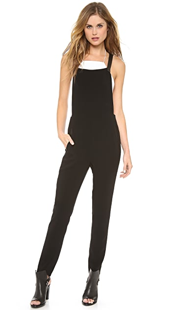 Rag & Bone Box Jumpsuit with Leather