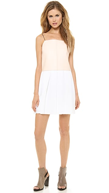 Rag & Bone Paige Leather Combo Dress