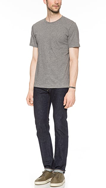 Rag & Bone Perfect Stripe Pocket T-Shirt