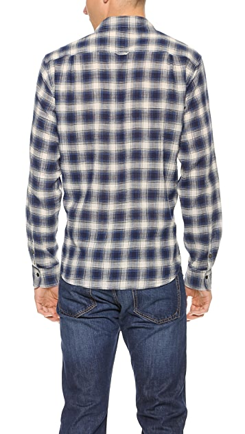 Rag & Bone Multi-Plaid Beach Shirt