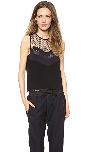 Rag & Bone Smith Crop Mesh Tank