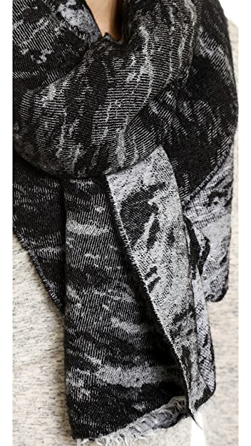 Rag & Bone Distortion Jacquard Scarf