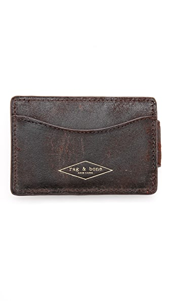 Rag & Bone Money Clip Card Case