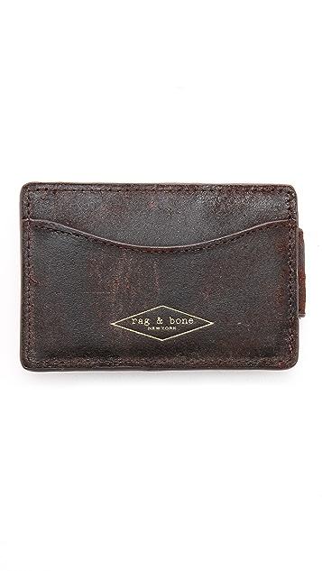 Rag & Bone Money Clip Card Case